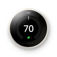 Nest White Learning Thermostat with Built-In WiFi Works with Iris