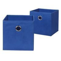 Neu Home Blue Fabric Drawer W/ Grommet - Set Of 2