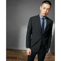 Classic Black Performance Stretch Wool Blend Suit Pant