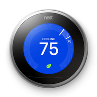 Nest Stainless Steel Learning Thermostat with Built-In Wifi