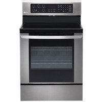 LG Smooth Surface Freestanding 5-Element 6.3-cu ft Convection Electric Range (Stainless Steel) (Common: 30-in; Actual: 29.875-in)