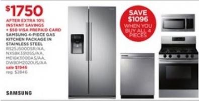 Samsung_ 4-pc. Gas Kitchen Package- Stainless Steel