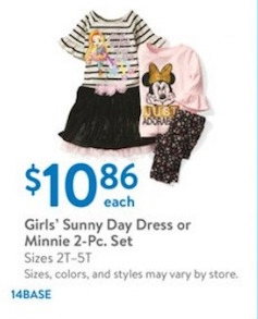 Girls' Sunny Day Dress or Minnie 2-Pc. Set