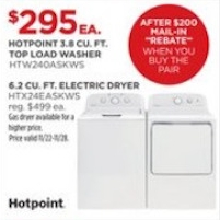 Hotpoint_ 3.8 DOE cu. ft. Capacity Stainess Steel Basket Washer
