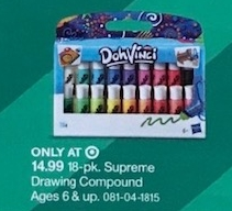 Play-Doh DohVinci 18pk Deco Pop Refill