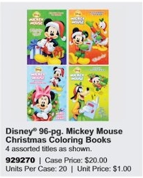 Bendon Disney Christmas Coloring Books, 96 Pages