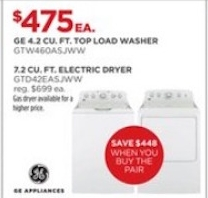 GE_ 4.2 DOE cu. ft. Top Load Washer