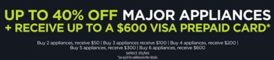 Save on Major Appliances