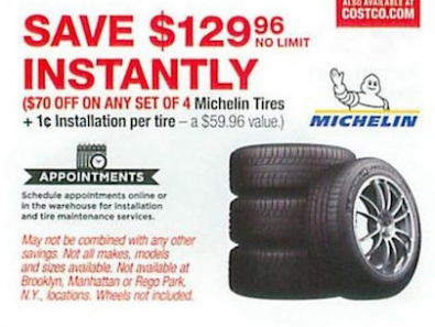Michelin Tires - Any Set of 4