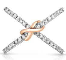 $50 off  1/2cttw Diamond & Sterling Silver Criss Cross Ring +...